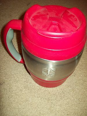 """Large Drink Cup Bubba Keg On Front By In Zone Red & Silver 8"""" H X 4.5"""" In Diamet"""