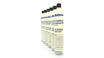 NEW ACDelco Air Conditioner A/C Compressor Oil 88901445 Set of 6 Bottles 8oz