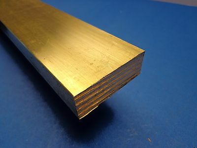 "1/2"" x 1"" x 12""-Long 360 Brass Flat Bar -->.500"" x 1.0"" 360 Brass MILL STOCK"