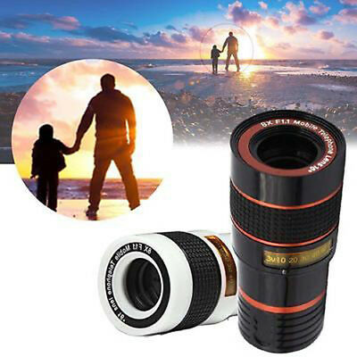 Universal 8X Zoom Camera Telephoto Telescope Lens Phone Clip For iPhone Samsung