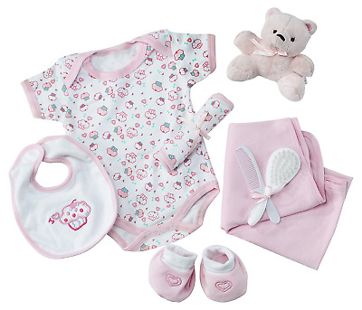 Big Oshi Baby Essentials Gift Basket 9-Piece Layette Set Infant up to 0-6 Month