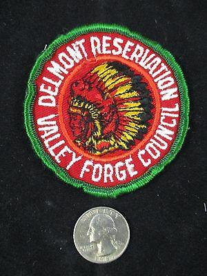 Vtg Boy Scout Valley Forge Council Delmont Reservation Indian Chief Patch BSA