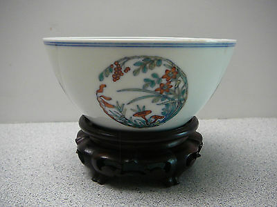 Important Chinese porcelain Doucai Bowl on stand Yongzheng mark and period 18thC