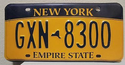 2012 New York  Empire State Gold License Plate Gxn 8300 Used