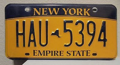2012 New York  Empire State Gold License Plate Hau 5394 Used