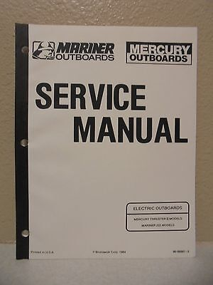 Mercury thruster ii mariner 222 electric outboard motor service service manual mercury mariner electric outboards thruster ii 2 model 222 freerunsca Image collections