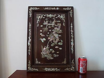 Ancienne Marqueterie Nacre Dragon Antique Chinese Rosewood Mother Of Pearl 19Th