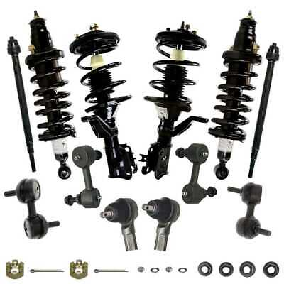 12 Pc Set of Complete Struts Sway Bars & Tie Rods fits 2003-2005 Honda Civic