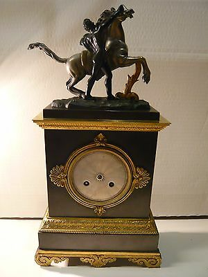 Early 19th Century Ormulu/Bronze silk suspension French clock for restoration.