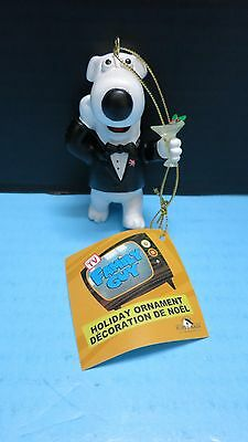 Brian Griffin  Family Guy Christamas Tree Ornament Holiday Rat Pack Martini New