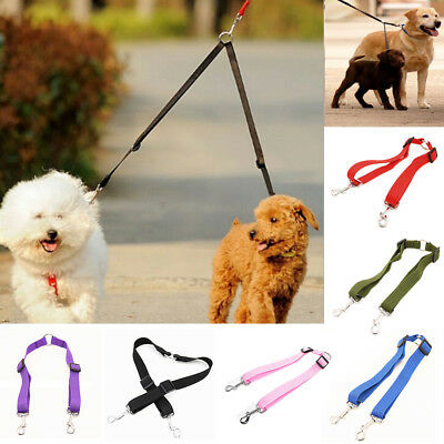Duplex Double Dog Coupler Twin Dual Lead 2 Way Two Pet Dogs Walking Safety Leash