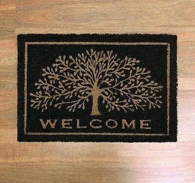 OUTDOOR FRONT DOOR MAT DOORMAT RUG TREE OF LIFE WELCOME COCONUT FIBRE 40x60cm