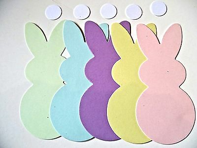 10/20 Assorted Pastel Card Bunny Rabbit die cut shapes Easter Embellishments