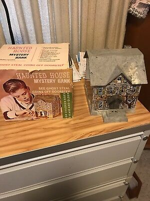 Vintage Haunted House Mystery Bank Mechanical WITH ORIGINAL BOX