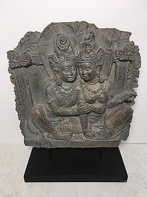 Thai Temple Dancer Relief Ramakien Home Office Decor 15""