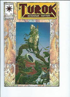 Turok Dinosaur Hunter #1 NM+ Valiant comics 1993 #1 Embossed red foil cover