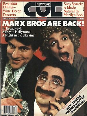 """David Garrison """"A DAY IN HOLLYWOOD"""" Marx Brothers 1980 New York """"CUE"""" Magazine"""