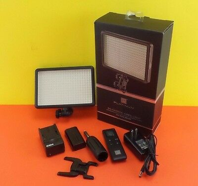 Used Platinum 308 LED Rechargeable On-Camera Video Light LED Dual Color #oncam38