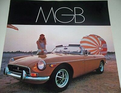 1969 Mgb Dealers Car Sales Brochure, 6 Pg Foldout, Exc Condition
