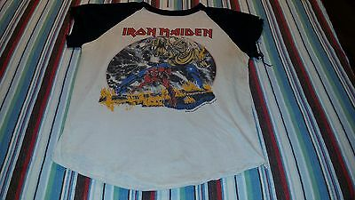Vintage Iron Maiden 1982 Number Of The Beast World Tour t Shirt concert 1980s