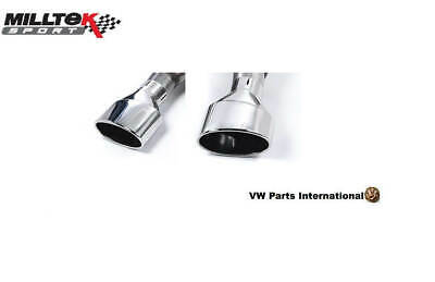 Audi RS3 8v Sportback Milltek Sport Pair Polished Silver Oval Exhaust Tips Only