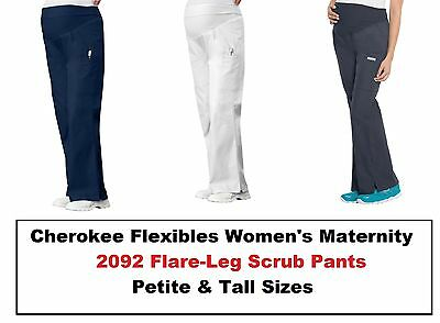 Cherokee Maternity Scrubs Pro Flexibles 2092 Knit Waist pull Pants Petite/Tall