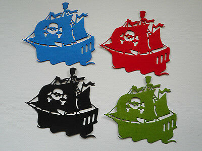 Pirate Ship Paper Die Cuts x 2 Sets Boys Scrapbooking Embellishment - Not a Die