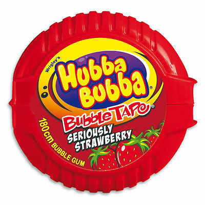 """New"" CONF HUBBA BUBBA 180CM TAPE STRAWBERRY(BX12) Free shipping"