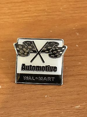 Rare Walmart Lapel Pin Automotive Checkered Flag TLE Dept Wal-mart Pinback