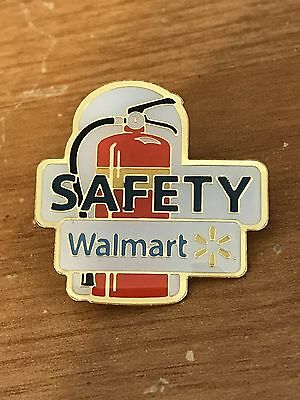 Rare Walmart Lapel Pin Safety Fire Extinguisher Wal-mart Pinback