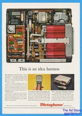 1960 Dictaphone Time Master Idea Harness Circuit Board Dictabelt Print Ad
