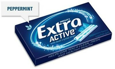 """""""New"""" CONF WRIGLEYS EXTRA ACTIVE PEPPERMINT(BX24) Free shipping"""