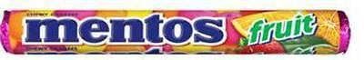 """""""New"""" CONF MENTOS FRUIT 37GM(BX40) Free shipping"""