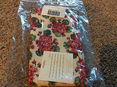 New Lot Of 2 Longaberger Napkins Geranium 2 Pack