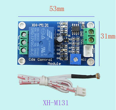 12V Car Light Control Switch Photoresistor Relay Module Detection Sensor GT