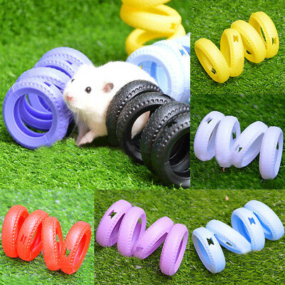 Small Pet  Toys Mice Hamster Gerbil Rat Plastic Spiral Tube Wheel Exercise Toy
