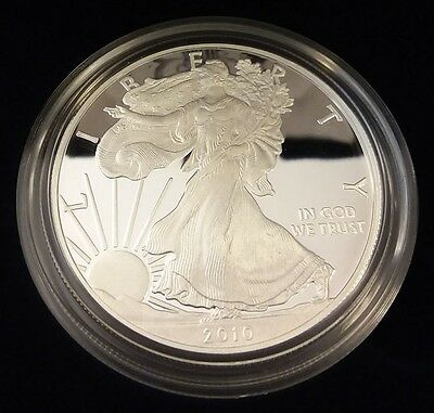 2010 US Mint Silver American Eagle 1oz Proof Dollar Coin w/Box and COA