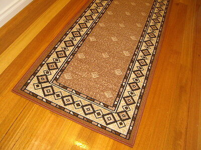 Hallway Runner Brown Black Beige Hall Runner Rug 6 Metres Long FREE DELIVERY