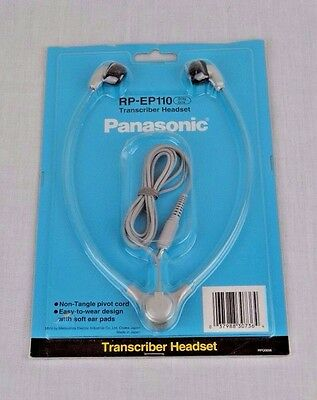 Panasonic RP-EP110 TRANSCRIBER HEADSET NEW IN ORIGINAL PACKAGE GRAY