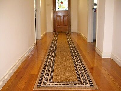 Hallway Runner Hall Runner Rug Patterned Beige 5 Metres Long FREE DELIVERY 98809