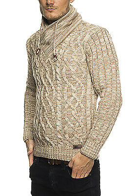 Subliminal Mode - Pull Over Col Châle Homme Tricot SB-16082 Petite Maille Monta