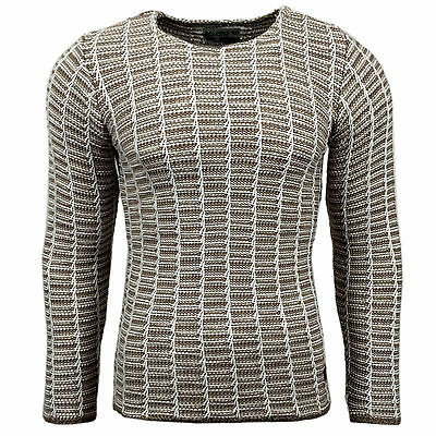 Subliminal Mode - Pull Over Rayé Homme Tricot SB-15029 Grosse Maille