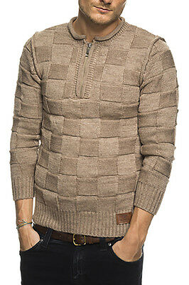 Subliminal Mode - Pull Over Col Arrondi Homme SB-6060 Hiver Petite Maille