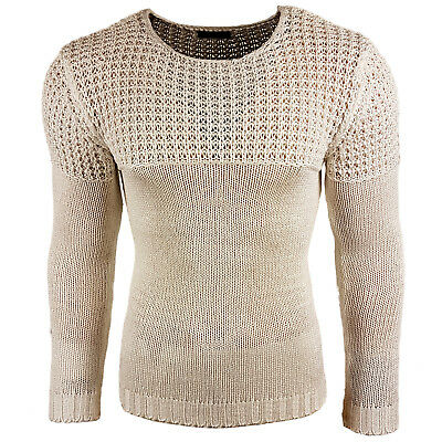 Subliminal Mode - Pull Over Chiné Homme Tricot SB-6250 Grosse Maille