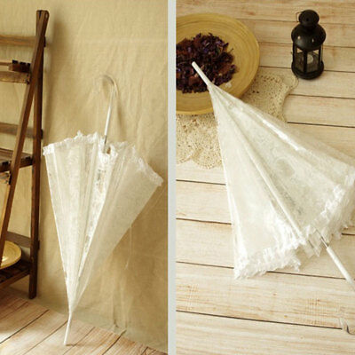 Lace Umbrella Bridal Arch Shaped Dome Frilly Wedding Decorations Parasols
