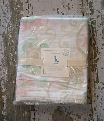 NEW Pottery Barn Kids MAYA Toddler Duvet Bed Crib Size Cover Paisley Floral