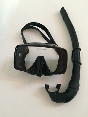 Spearfishing, Freedive and Scuba Low Volume Silicone Goggle and Snorkel Kit