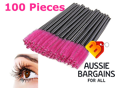 100x Disposable Mascara Wands Eyelash Brushes Extension Applicator Spoolers