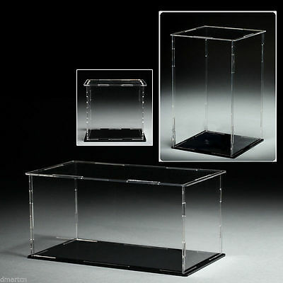 Acrylic Plastic Display Case Box Dustproof Self-Assembly Various Sizes to Choose