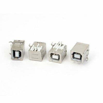 USB-B Type Right Angle PCB Socket Female Connector 4Pcs